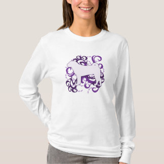 Purple Swirl Shar Pei T-Shirt