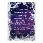 """Purple Swirls Bachelorette Party Invitation 5"""" X 7"""" Invitation Card"""
