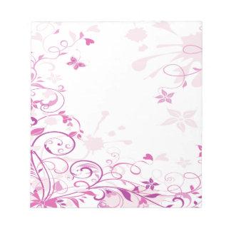 Purple Swirls Flowers Notepad