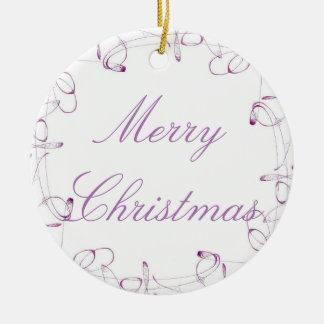 Purple Swirls Ornament