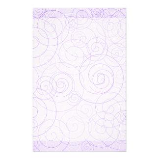 Purple Swirls Writing Paper