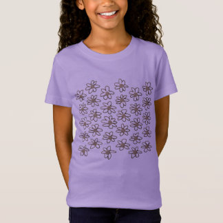 Purple t-shirt with folk flowers