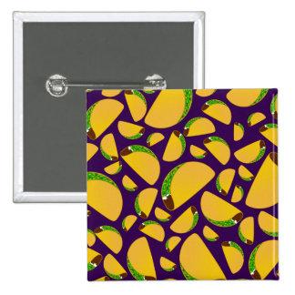 Purple tacos 2 inch square button