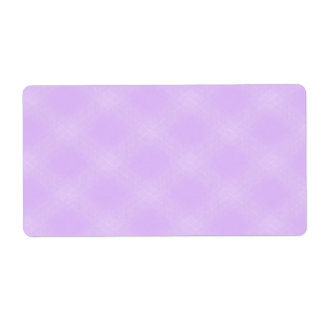 Purple Tartan Pattern Custom Shipping Labels