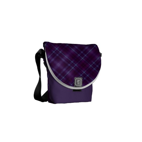 Purple Tartan Plaid Pattern Commuter Bag