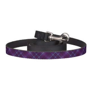 Purple Tartan Plaid Pattern Dog Lead