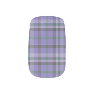 Purple Tartan Plaid Patterned Mani  - Minx Nail Art