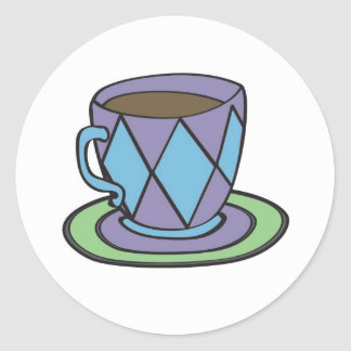 Purple Teacup Sticker