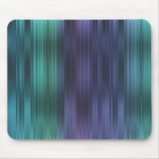 Purple Teal Blue Green Stripes Mouse Pad