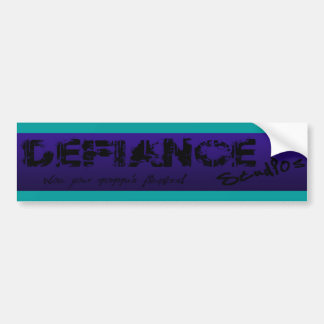 Purple & Teal Defiance Studios Logo Bumper Sticker