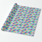 Purple Teal Gold Mermaid Scales Wrapping Paper