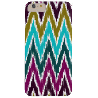 Purple Teal Ikat Chevron Zig Zag Stripes Pattern Barely There iPhone 6 Plus Case