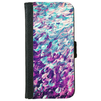 Purple & Teal Iphone 6/6s Wallet Case
