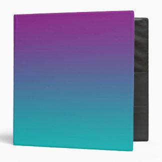 Purple & Teal Ombre Vinyl Binder