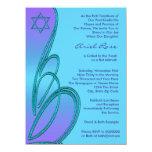 Purple Teal Star of David Bat Mitzvah