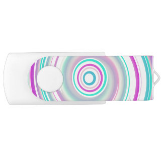 Purple & Teal Swirl - White 16 GB USB Flash Drive