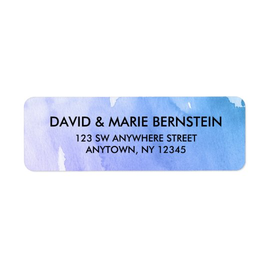 Purple Teal Watercolor Return Address Return Address Label