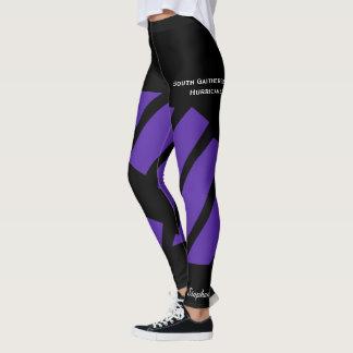 Purple Team/Club Leggings with Fake Shorts