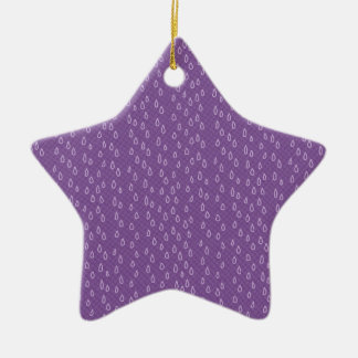 Purple Tears Ceramic Ornament