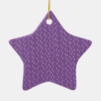 Purple Tears Ceramic Star Ornament