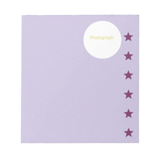 Purple Template with Stars Notepad
