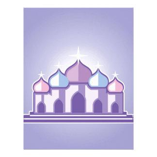 Purple Temple Custom Letterhead