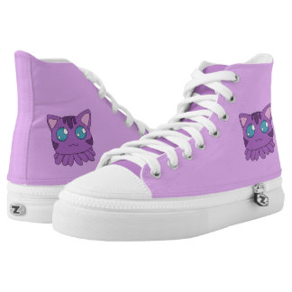 Purple Tentacle Cat Hightops High Tops