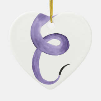 Purple Tentacle Ceramic Ornament