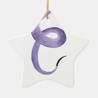 Purple Tentacle Ceramic Ornament