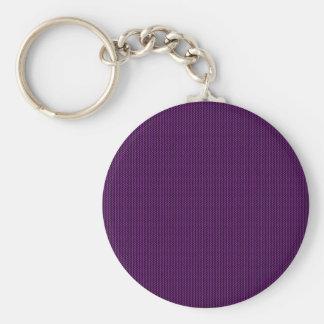 Purple texture basic round button keychain