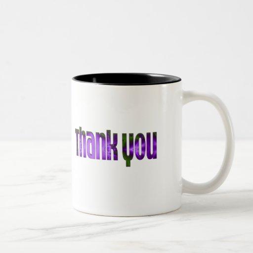 purple Thank you Mugs