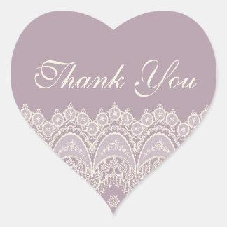 Purple Thank You Wedding Envelope Seals