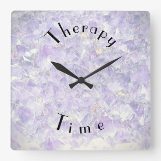 Purple Therapy Time Square Wall Clock
