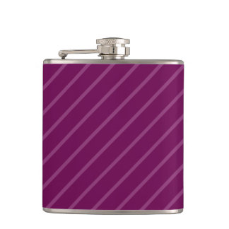 Purple Thin Light Stripes 6 oz Vinyl Wrapped Flask