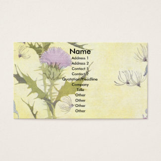 Purple Thistle Business Card