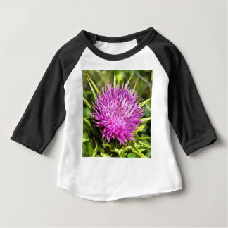 Purple Thistle Wildflower Baby T-Shirt