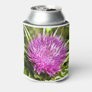 Purple Thistle Wildflower Can Cooler