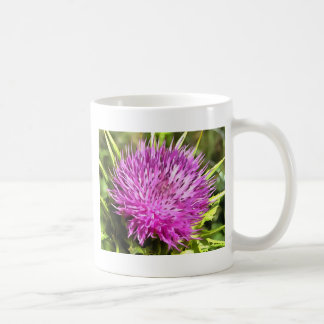 Purple Thistle Wildflower Coffee Mug