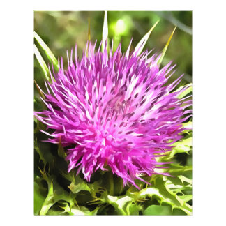 Purple Thistle Wildflower Letterhead