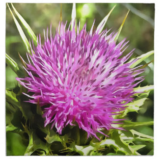 Purple Thistle Wildflower Napkin