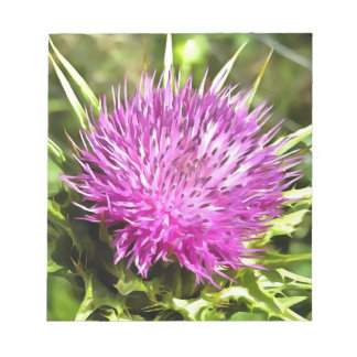 Purple Thistle Wildflower Notepad