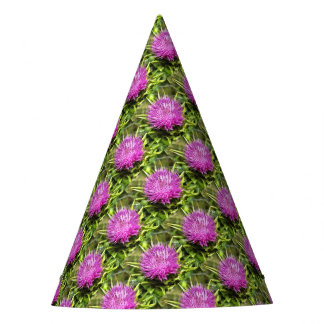 Purple Thistle Wildflower Party Hat