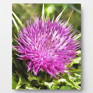 Purple Thistle Wildflower Plaque