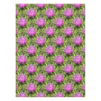Purple Thistle Wildflower Tablecloth