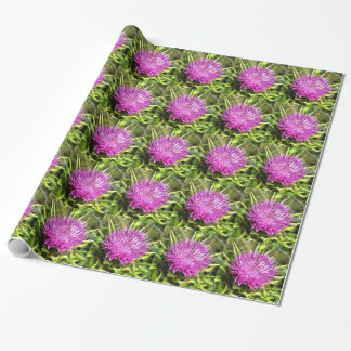 Purple Thistle Wildflower Wrapping Paper