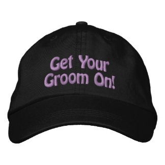 Purple Thread Get Your Groom On for Pet Groomer Embroidered Hat