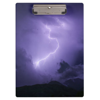 Purple Thunderstorm at Night Clipboard