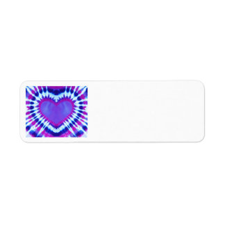 Purple Tie-Dye Heart return address labels