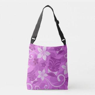 Purple Tikis Crossbody Bag