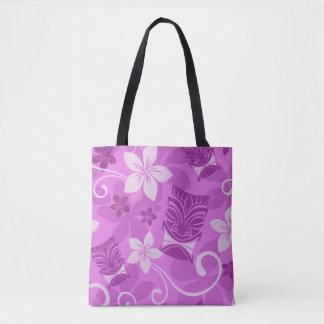 Purple Tikis Tote Bag